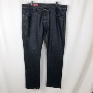 bc539ec2 Zara Jeans - Zara Men's Black Waxed Jeans